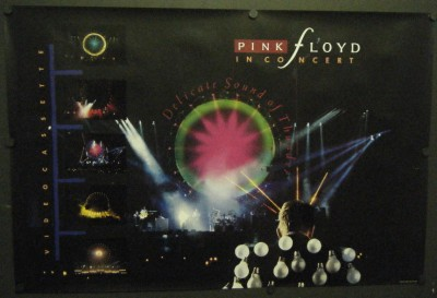 Pink Floyd in Concert Promo Poster 1989 Delicate Sound of Thunder 24