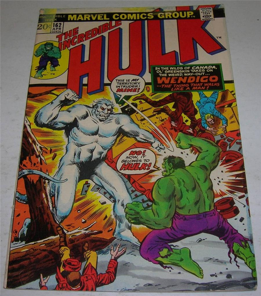 INCREDIBLE HULK #162 (Marvel Comics 1973) 1st appearance ...