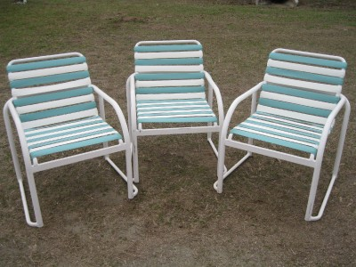 Poolside Patio Outdoor Chair Vinyl Webbing 90 Available