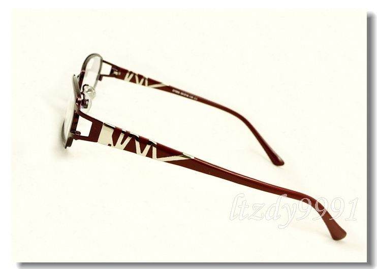 Eyeglass Frames For Narrow Bridge : Brown&Silver Metal Narrow Full Rim EYEGLASSES FRAMES Women ...