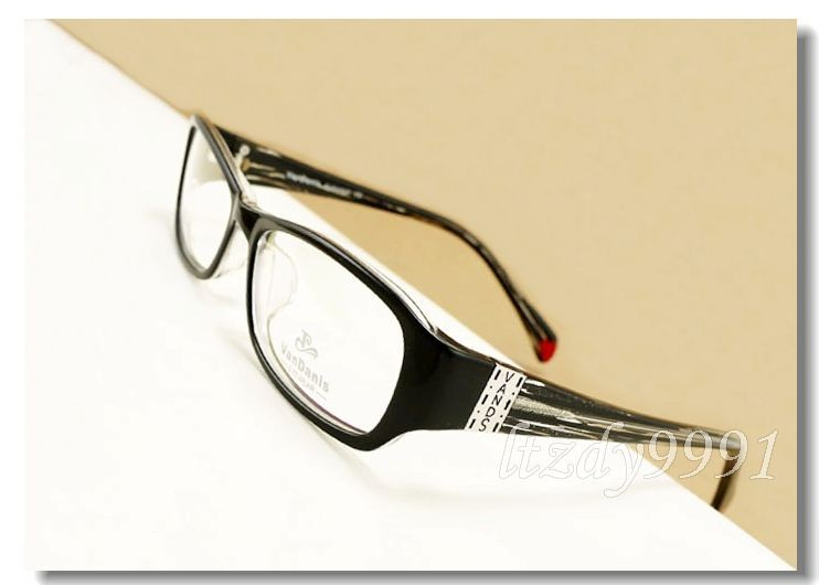Eyeglass Frames For Narrow Bridge : Black&Semi-transparent Narrow Rectangular EYEGLASSES ...