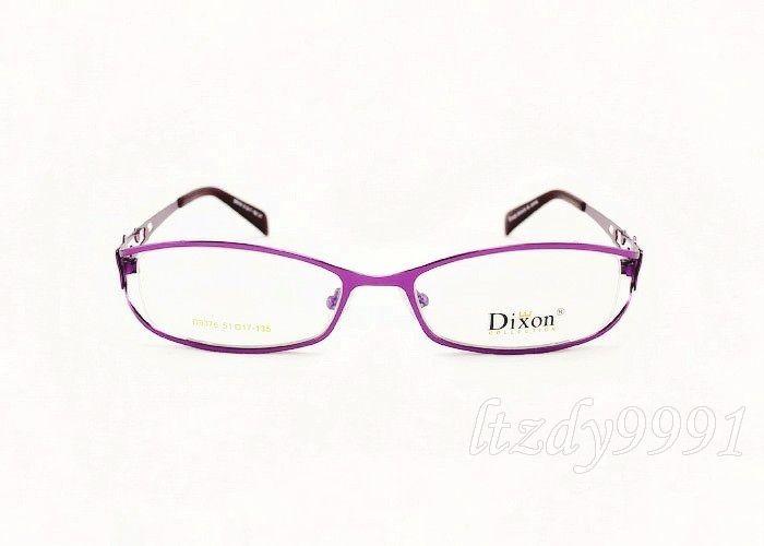 Eyeglasses Frames Purple : Purple Optical Metal Half Rim EYEGLASS FRAME Womens ...