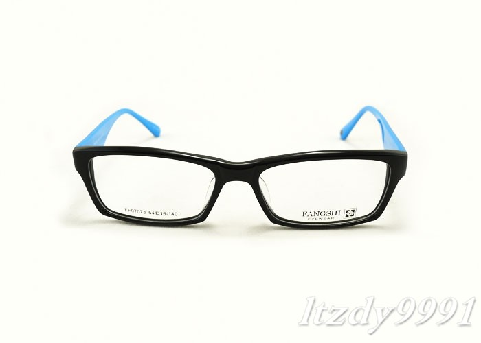 Blue Black Glasses Frames : Black&Blue Acetate Rectangular EYEGLASSES FRAMES Men Women ...
