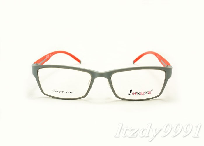 Super Lightweight Eyeglass Frames : Gray&Orange Super Light Optical EYEGLASSES FRAMES Men ...