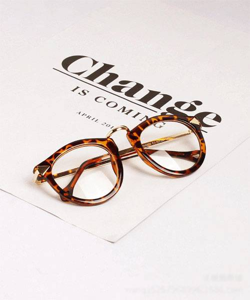 Vintage-Retro-Round-Acetate-Optical-EYEGLASSES-FRAME-Women-Plain-Glasses-8888