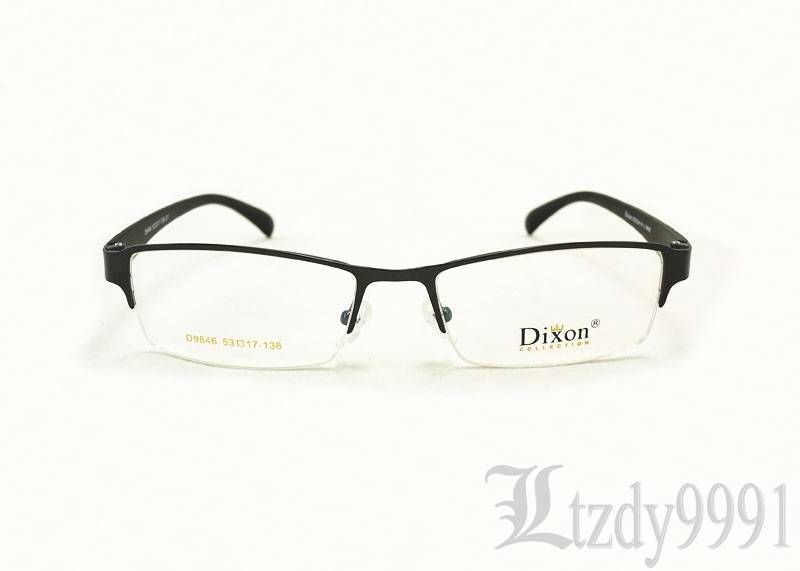 Eyeglass Frames For Narrow Bridge : Gray Metal Narrow Rectangular Half Rim EYEGLASSES FRAMES ...