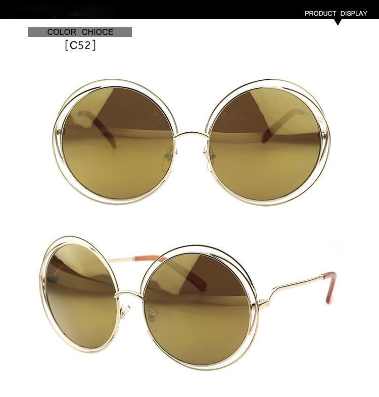 CE114S Women Sunglasses Designer Carlina Round Over Size Vintage/Retro