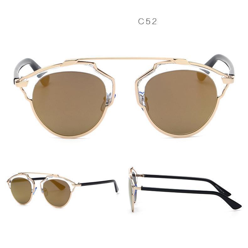 New Colors So Real Mirrored Lenses Women Sunglasses Christian Designer Cat Eye