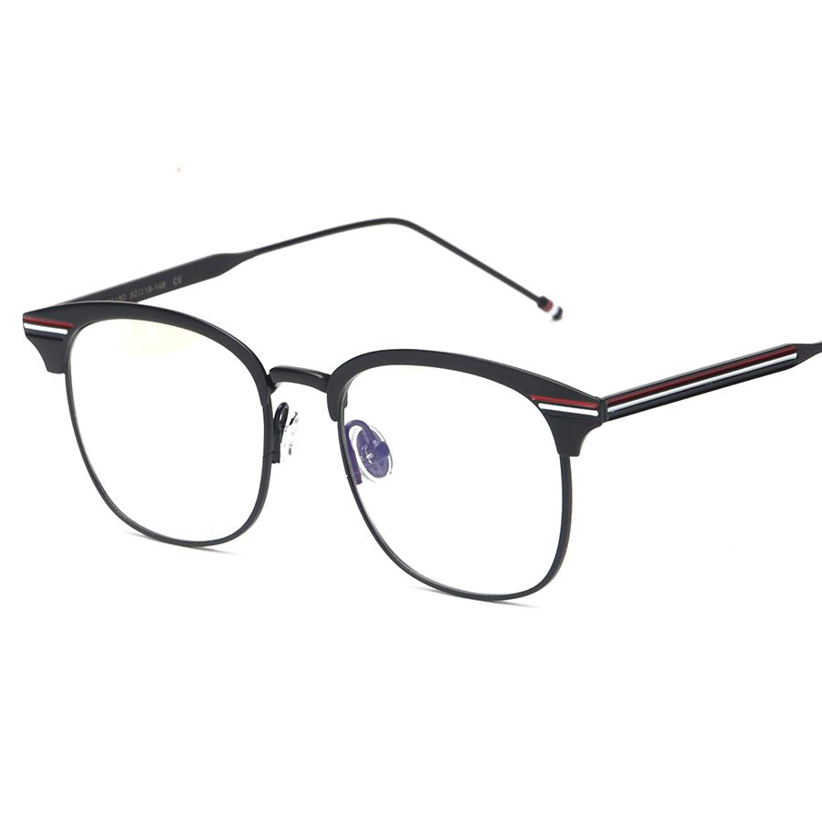 Black Metal Frame Glasses : Black/Gun/Silver Metal Vintage Full Rim TB-104 EYEGLASSES ...