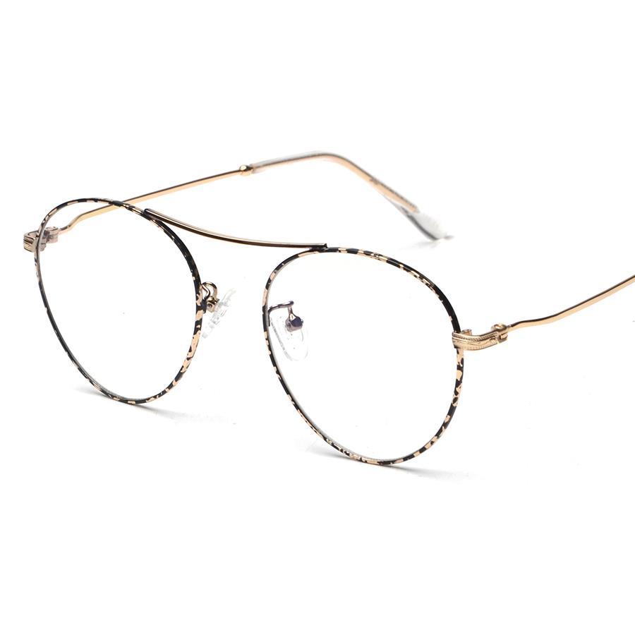 Negro/Oro Metal Retro/vintage gafas gafas marco de borde completo ...