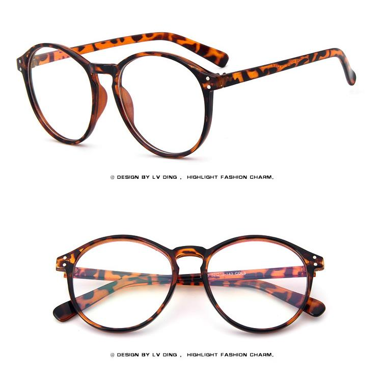 Round Fashion Retro Acetate Vintage Men Women EYEGLASSES ...