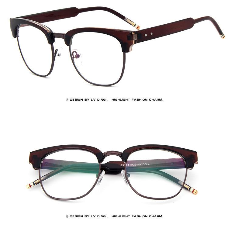 Acetate Eyeglasses Frame : Bold Thick Rim Retro Acetate Vintage Men Women EYEGLASSES ...