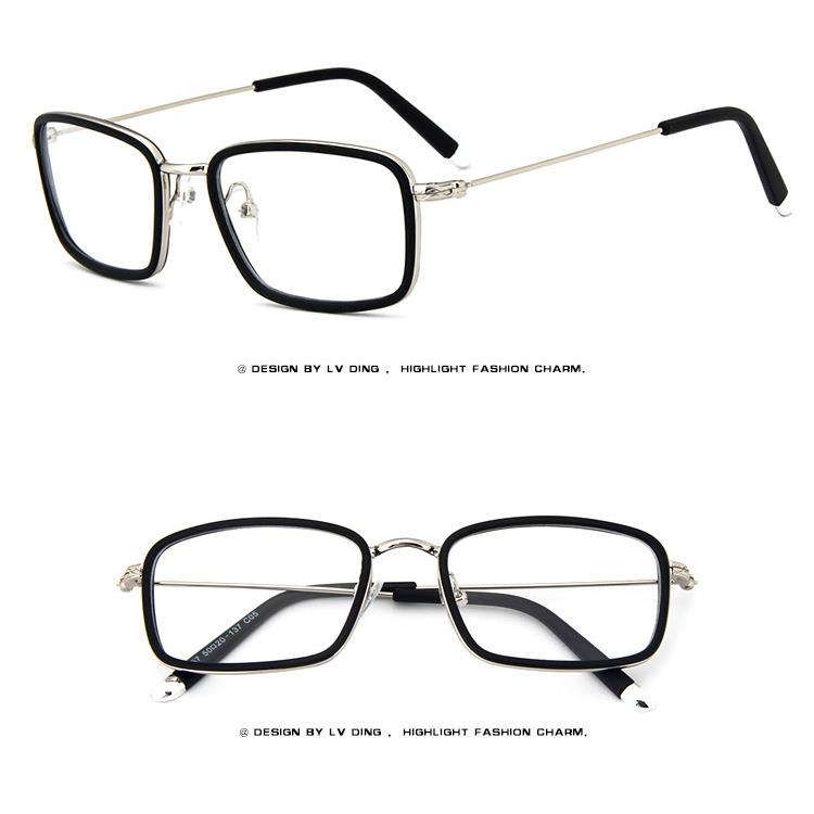 Old Eyeglass Frames New Lenses : Rectangular Metal Vintage Men Women Optical EYEGLASSES ...