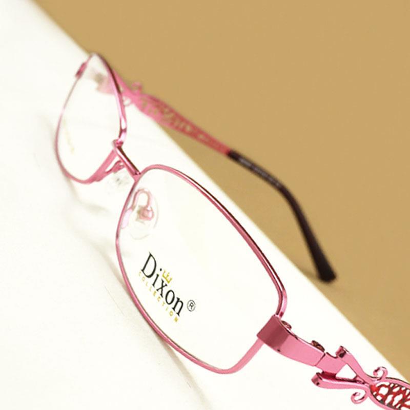 Glasses Narrow Frame : Hollow Metal Narrow Oval Full Rim EYEGLASSES FRAMES Women ...