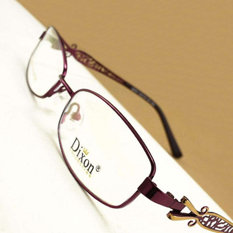 Hollow Metal Narrow Oval Full Rim EYEGLASSES FRAMES Women ...