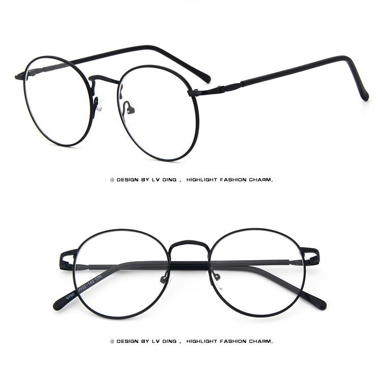 thin rim round fashion metal vintage men women - Womens Metal Eyeglass Frames