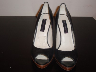 Womens Shoes Steve Madden Black Peep Toe Pumps 10M EXC