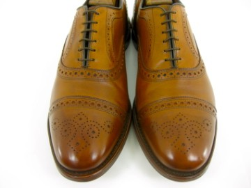 Allen Edmonds STRAND Walnut Cap Toe Medallion Dress Shoe Oxfords 13 D