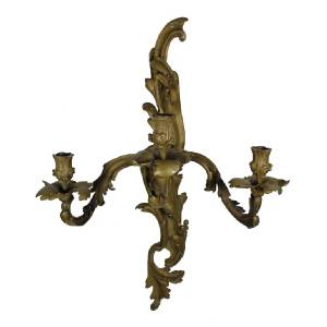 Stately Antique 19th C French Bronze Acanthus Rococo Candle Holder Wall Sconce eBay