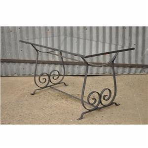 Vintage Modern Wrought Iron Outdoor Patio Garden Coffee Table Salterini Style Ebay