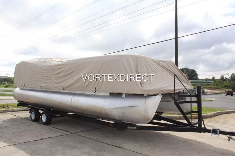 NEW VORTEX SUPER HEAVY DUTY BEIGE 1200D 28 FT ULTRA 4 PONTOON//DECK BOAT COVER