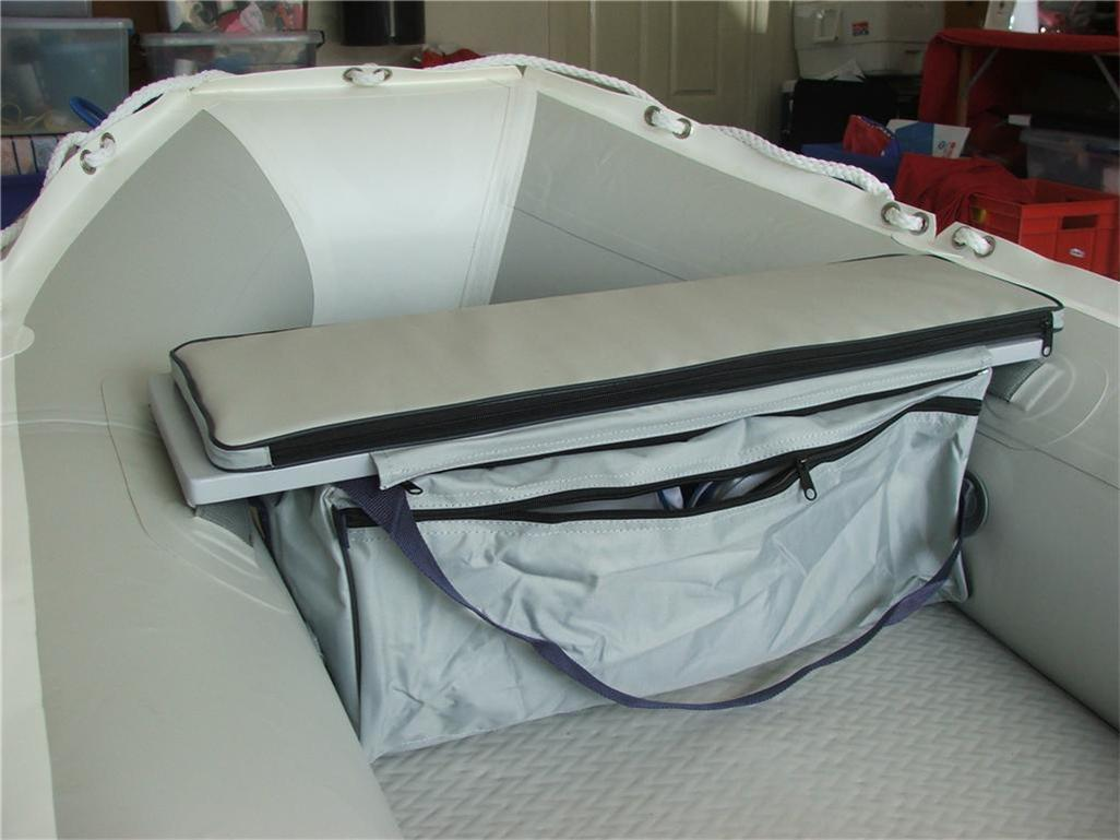 UNDERSEAT-STORAGE-BAG-WITH-CUSHION-FOR-INFLATABLE-BOATS-Grey-95cm-seat