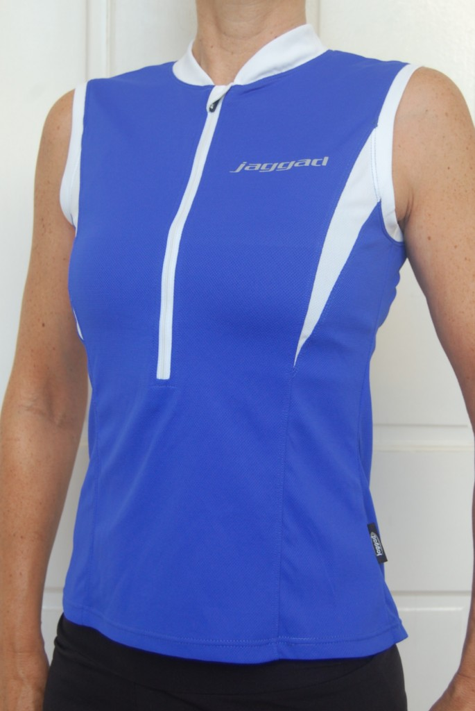 Ladies-Womans-Cycling-Bike-Jersey-Top-sleeveless-Blue-size-L12