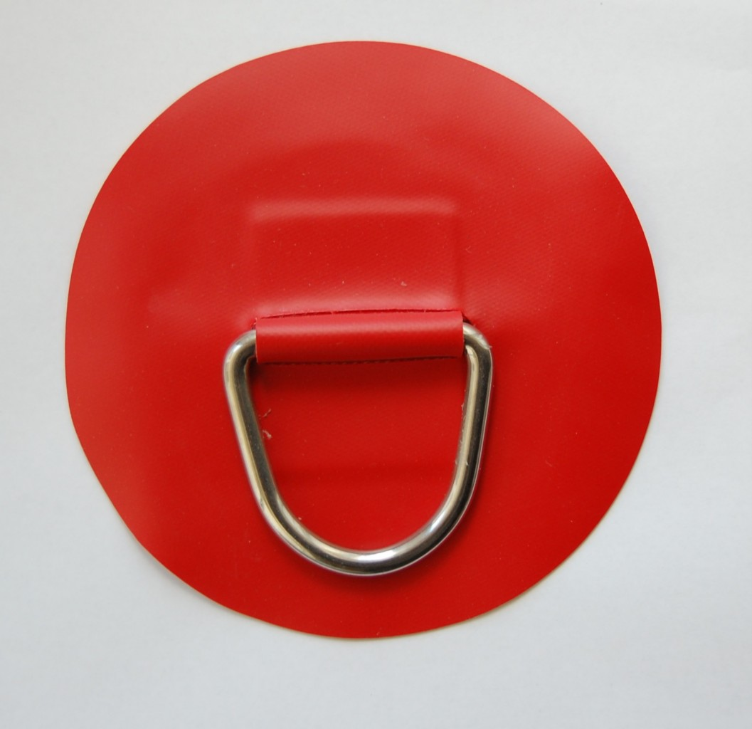 1-X-INFLATABLE-BOAT-STAINLESS-STEEL-DRING-PVC-PATCH-RED-LARGE