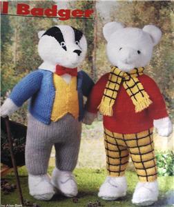 Alan Dart Rupert Bear & Bill Badger toys Knit Pattern | eBay