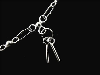 925 Sterling Silver Charm Anklet Chain Ankle 9 1 2& 34