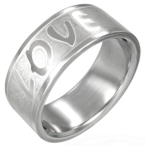 316L Stainless Steel Unisex Love Wedding Band Ring