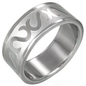 316L Surgical Stainless Steel Tribal Design Band Ring