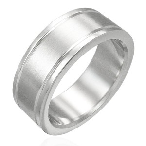 New 316L Stainless Steel Unisex Band Plain Ring Size