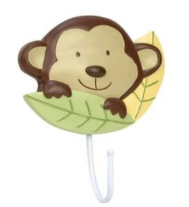 Little Boutique Monkey Wall Hook Nursery Bathroom Baby