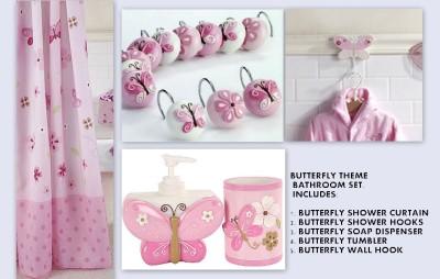 Little Boutique Floral Butterfly Bathroom Set Shower