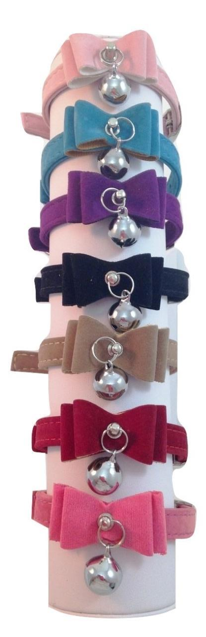 Suede Bow Cat Kitten Puppy Collar