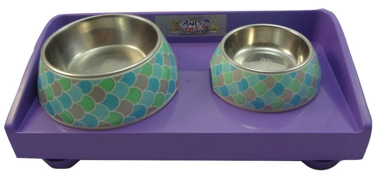 Ants Off Ant Proof Feeding Table Dogs Cats - Purple