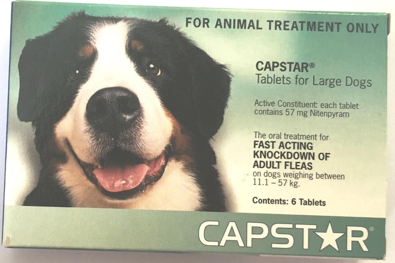 Capstar Fast Acting Flea Treatment Tablets for Large Dogs  Green 6 pack 11.1 - 57kg