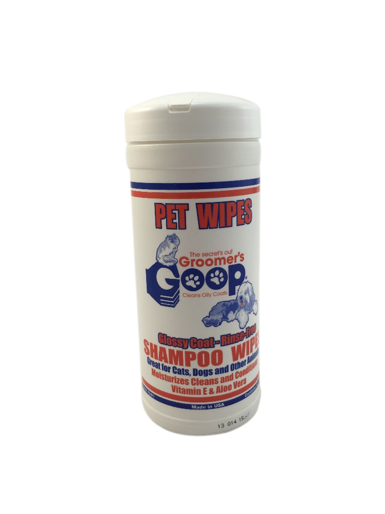 Groomers Goop Nontoxic Safe Shampoo Wipes for Cats Kittens Dogs Pets