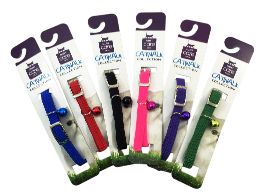 Catwalk Nylon Stretchy Collar for Cats Kittens Dogs Puppies Pets safety release adjustable