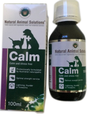 Anxiety Stress Cats Dogs Pet Calm Calming Relief Natural Animal Solutions 100ml