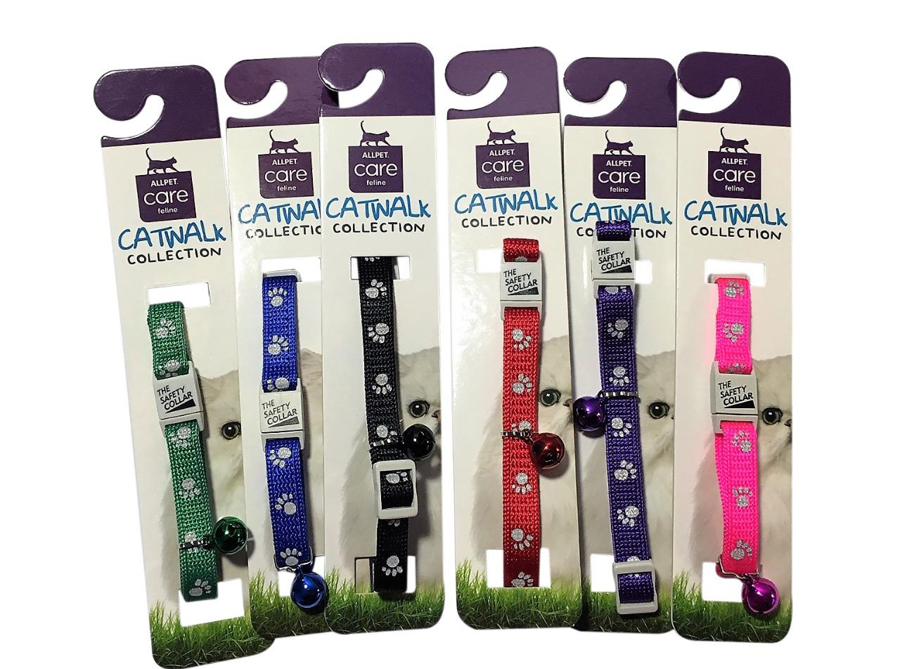 Collar Cat Kitten Dog Puppy Pet Pets safety release adjustable Nylon Reflective Catwalk