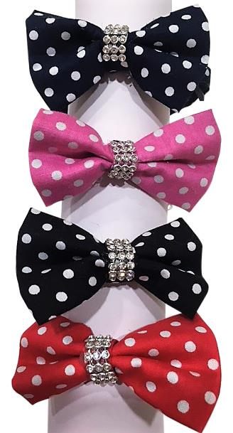 Polka Dot Bow Collar with Breakaway buckle for Cats Kittens Dogs Puppy Pets