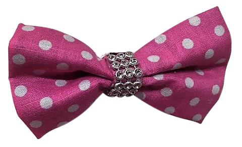 Polka Dot Bow Breakaway Collar Cat Kitten Dog Puppy - Pink