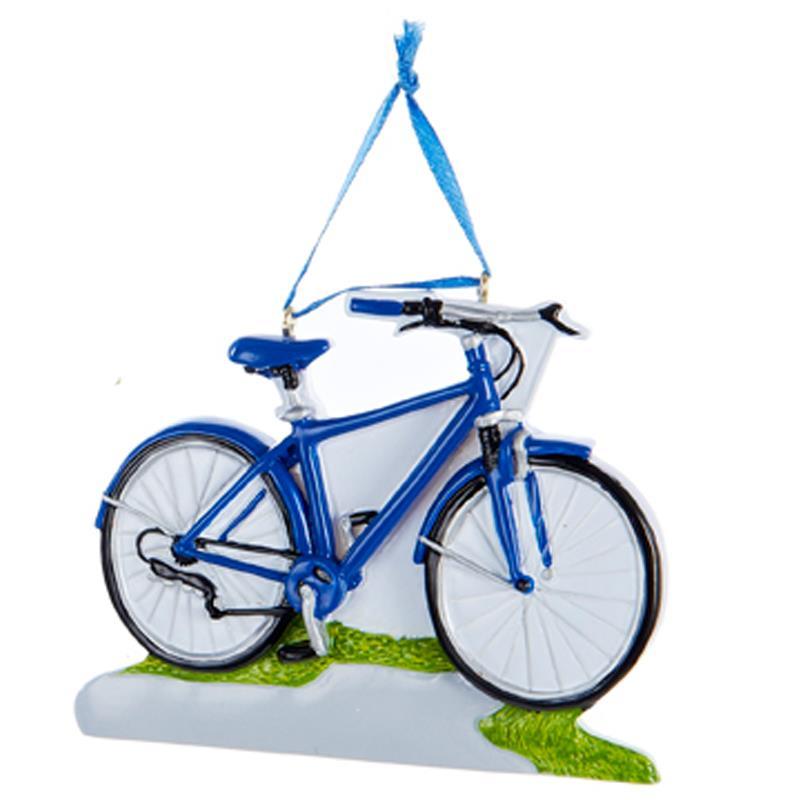 new kurt adler 4 5 034 blue or - Bicycle Christmas Ornament