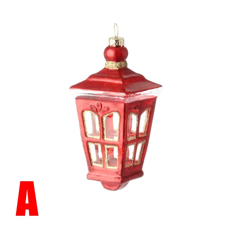 New raz quot red lantern glass christmas ornament