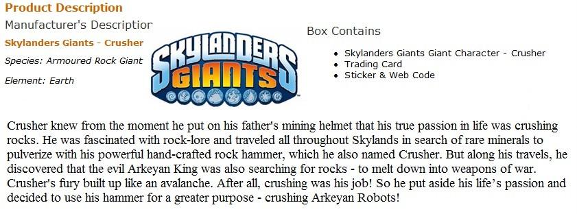 Skylanders: giants – analyse des nouveaux venus l, Note de la