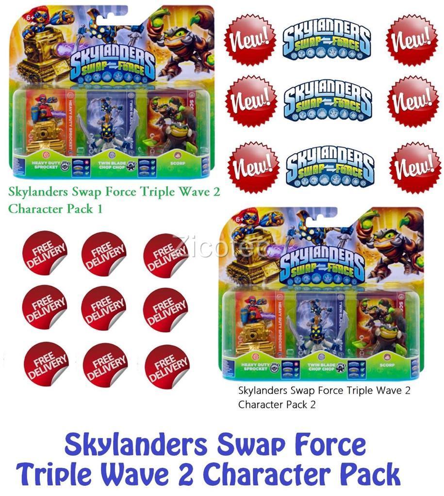 Skylanders Swap Force Wave 3 Characters Skylanders swap force wave 1