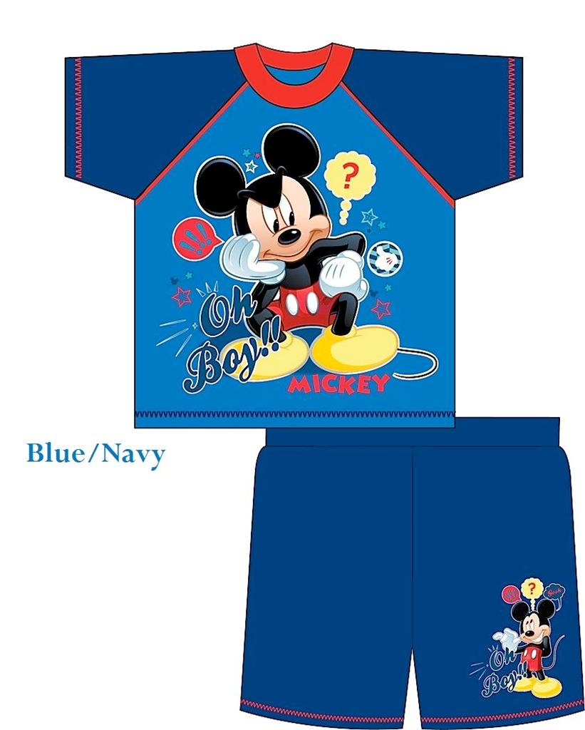 Boys-Official-Disney-Mickey-Mouse-Shortie-Pyjamas-Age-12-Months-to-4-Years-New