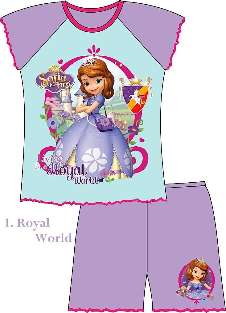 Girls-Official-Princess-Sofia-the-first-Shortie-Pyjamas-Age-12-Months-to-5-Year